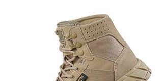 """FREE SOLDIER Men's Tactical Boots 6"""" inch Summer Lightweight Breathable Desert Boots with Thin Durable Fabric(Tan, 7 US)"""