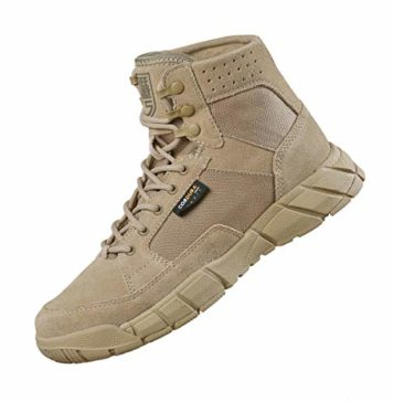 "FREE SOLDIER Men's Tactical Boots 6"" inch Summer Lightweight Breathable Desert Boots with Thin Durable Fabric(Tan, 7 US)"