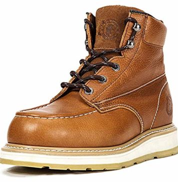 ROCKROOSTER Men's Work Boots, Composite Toe, Safety Water Resistant Leather Shoes, Width EE-Normal (AP828, US 9)