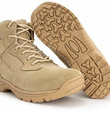 "6"" Ryno Gear Tactical Combat Boots (Beige) (9) Wide"