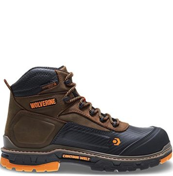 "Wolverine Men's Overpass 6"" Composite Toe Waterproof Work Boot, Summer Brown, 10.5 M US"