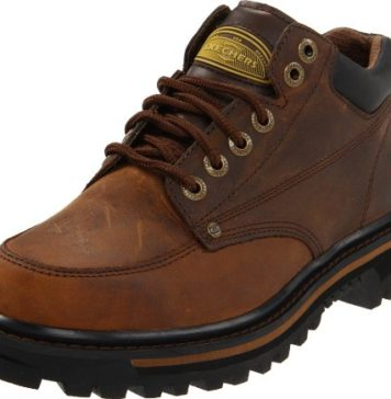 Skechers USA Men's Mariner Utility Boot,Dark Brown,11 WW US