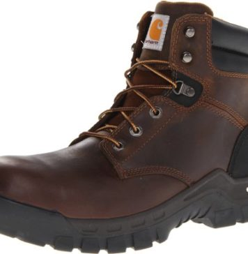 "Carhartt Men's 6"" Rugged Flex Waterproof Breathable Composite Toe Leather Work Boot CMF6366,Brown Oil Tanned Leather,9.5 M US"