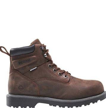 Wolverine Men's Floorhand 6 Inch Waterproof Soft Toe-M Work Boot, Dark Brown, 10 M US