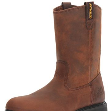 Caterpillar Men's Revolver Pull-On Soft Toe Boot,Wellington Dark Brown,12 W US