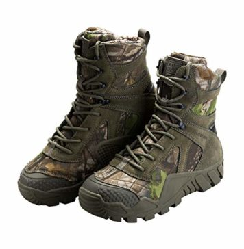 FREE SOLDIER Men's Tactical Boot All Terrain Suede Leather Shoes Outdoor Hiking Military Boots (Camouflage, 10.5 M US)