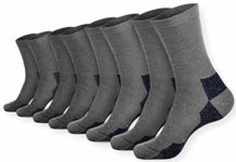Pembrook Wool Trail Socks - L/XL (4-Pack - 2 Gray, 2 Navy) - Soft, Warm, Thermal Merino Wool - Great for hiking, work, skiing, hunting. Sized for Men and Women