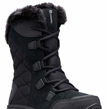 Columbia Women's ICE Maiden II Snow Boot, Black, Grey, 9 B US