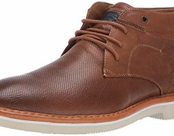 Steve Madden Men's DAZIER Chukka Boot, Taupe Leather 9.5 M US