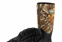 "TideWe Hunting Boot for Men, Insulated Waterproof Durable 16"" Men's Hunting Boot, 6mm Neoprene and Rubber Outdoor Boot Realtree Edge Camo US Size 5"