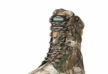 "TideWe Hunting Boot for Men, Insulated 400G 8"" Hunting Boot, Breathable Mid-Rise Outdoor Hiking Boot, Realtree Camo Edge (Size 7)"