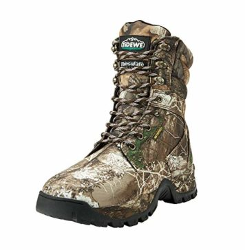 """TideWe Hunting Boot for Men, Insulated 400G 8"""" Hunting Boot, Breathable Mid-Rise Outdoor Hiking Boot, Realtree Camo Edge (Size 7)"""