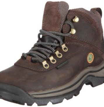 TimberlanD Women's White LeDge MiD Ankle Boot,Dark Brown,9.5 M US
