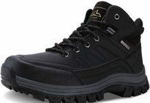 Caitin Men's Insulated Cold-Weather Boots Durable Hiking Boots, 1#_black, 11.5