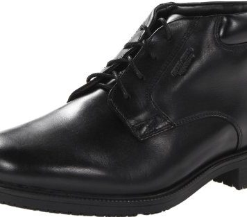 Rockport Men's Essential Details Waterproof Dress Chukka Boot,Black,9 M US