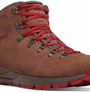 "Danner Men's Mountain 600 4.5"" Hiking Boot, Brown/Red - Suede, 12 D US"