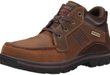 Skechers Men's Segment Melego Chukka Boot, Dark Brown, 13 D(M) US