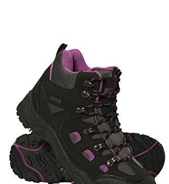 Mountain Warehouse Adventurer Womens Waterproof Hiking Boots Black Womens Shoe Size 8 US