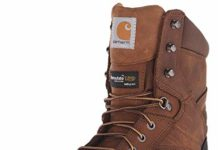 "Carhartt Men's 8"" Rugged Flex Insulated Waterproof Breathable Safety Toe Leather Work Boot CMF8389,  Brown,  10.5 W US"