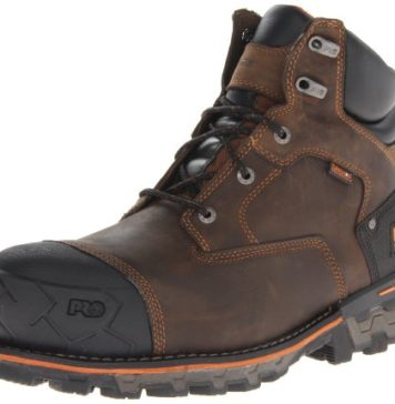 Timberland PRO Men's Boondock 6 Inch Waterproof Non-Insulated Work Boot,Brown Oiled Distressed,11 W US