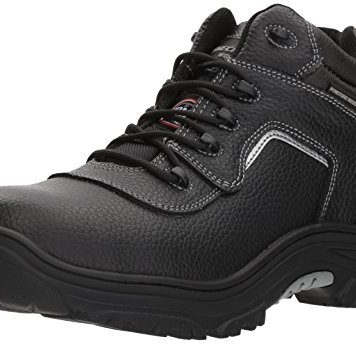 Skechers for Work Men's Burgin-Sosder Industrial Boot,black embossed leather,9 M US