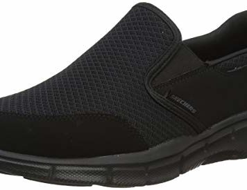 Skechers Men's Equalizer Persistent Slip-On Sneaker, Black, 11 XW US