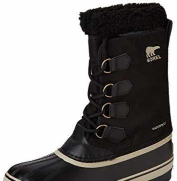 Sorel - Men's 1964 Pac Nylon Snow Boot for Winter, Black, Ancient Fossil, 10 M US