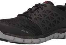 Reebok Work Men's Sublite Cushion Work RB4041 Industrial and Construction Shoe, Black, 10 M US