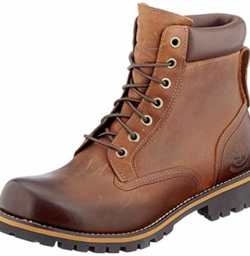 Timberland Men's Earthkeepers Rugged Boot, Medium brown full grain, 12 M US