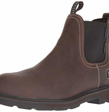 Ariat Work Men's Groundbreaker H2O Steel Toe Western Boot, Dark Brown-1, 10 D US