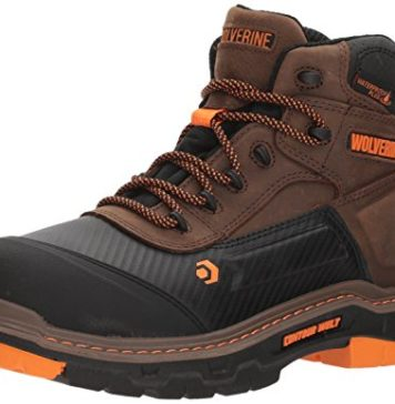 "Wolverine Men's Overpass 6"" Composite Toe Waterproof Work Boot, Summer Brown, 9.5 M US"