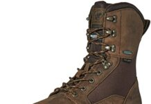 "Ariat Men's Conquest Round Toe 8"" GTX 400g Hunting Boot, Dark Brown, 9 D US"