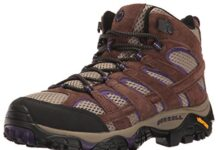 Merrell Women's Moab 2 Vent Mid Hiking Boot, Bracken/Purple, 7 M US
