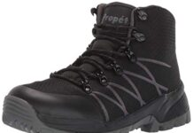 Propet Men's Traverse Hiking Boot, Black/Dark Grey, 08 D US
