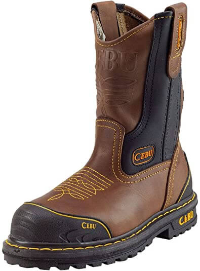 "CEBU Men's Tk Farmer 10"" Work Boot"