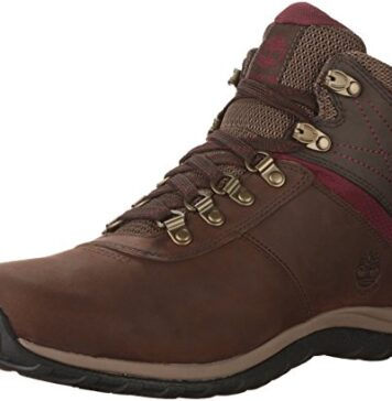 Timberland Women's Norwood Mid Waterproof Hiking Boot, Dark Brown, 9 Medium US