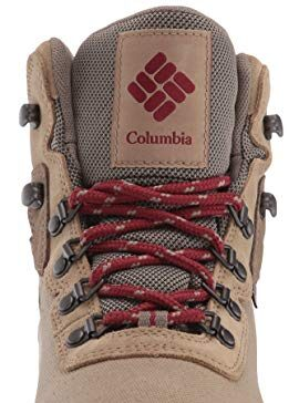 Columbia Women's Newton Ridge Lightweight Waterproof Shoe Hiking Boot, Beach/Marsala red, 7.5