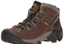 KEEN Men's Targhee II Mid Wide Hiking Shoe, Shiitake/Brindle, 13 W US