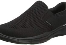 Skechers Men's Equalizer Double Play Slip-On Loafer,Black,12 W