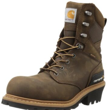 "Carhartt Men's 8"" Waterproof Composite Toe Leather Logger Boot CML8360, Crazy Horse Brown, 11.5 M US"