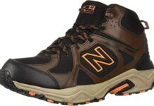 New Balance Men's 481 V3 Mid-Cut Hiking Shoe, Adrift/Black, 9 XW US