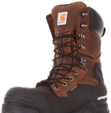 "Carhartt Men's 10"" Waterproof Insulated PAC Composite Toe Boot CMC1259,Brown Oiltan/Black Coated,13 M US"